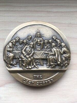 Medallic Art Company Bronze medal of Jesus by Henry Van Wolf Last Supper
