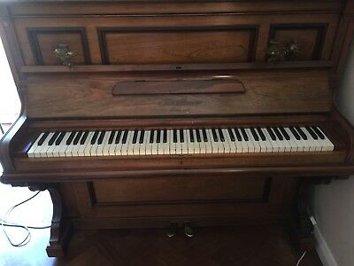 Lovely Bluthner Piano - late 19th Century with brass fitments all present