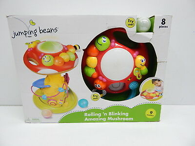 Jumping Beans Rolling 'n Blinking Amazing Mushroom with Number Puzzle BOX DMG