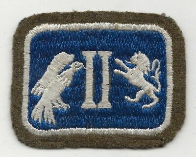 Beautiful Mid 1930s  Wool Felt Bordered 2nd US Army Corp Shoulder Sleeve Patch