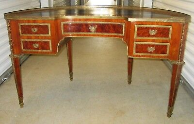 French Demilune Louis XV1 Style Desk 19th Century