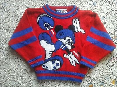 Mickey's Stuff By JetSet Disney  Vintage Mikey Mouse  Boys Toddlers  2T Sweater