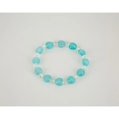 Sea Blue Chalcedony Stretch Bracelet