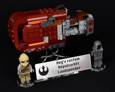 Star Wars Lego 75099 Reys Custom Speeder - custom display stand only