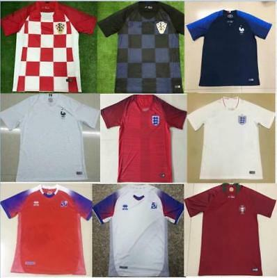 2018 National Teams Football Shirt With Logo Soccer Jersey Home/Away Size M L XL