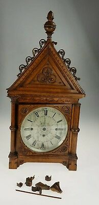 J W Benson London Triple Fusee Bracket Clock Case Arts and Crafts Spares Repairs