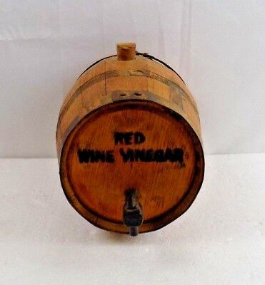 Wine Barrel -Vintage Franjoh Cellars  Mini Red Wine Vinegar Barrel -Stockton Ca.