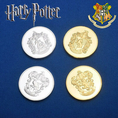 Hogwarts House Coins Set & Bag, Harry Potter, Wizarding World, Gringotts Cosplay