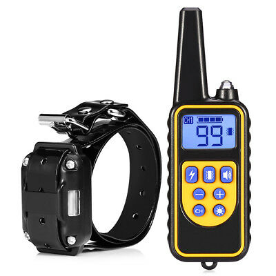 800m Waterproof Rechargeable Remote Control Dog LCD Electric Training Collar