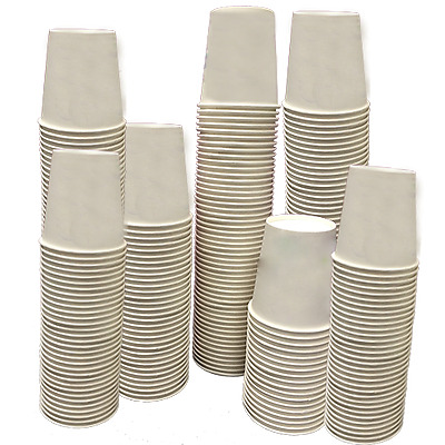 1000 Paper Cups - Recyclable Paper Cups 180ml (1000 Cups)
