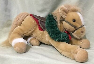 Wells Fargo 2003 Legendary Plush Pony Horse Buck Toys R Us Palomino Wreath