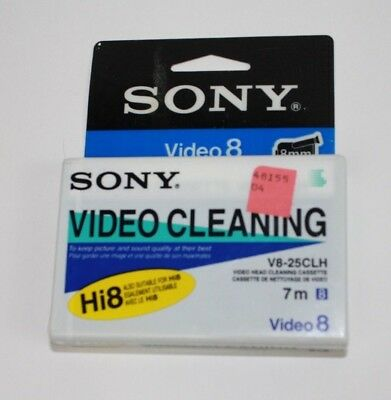 New Sony V8-25Clh Video 8 Hi8 Head Cleaning Cassette  Us Seller
