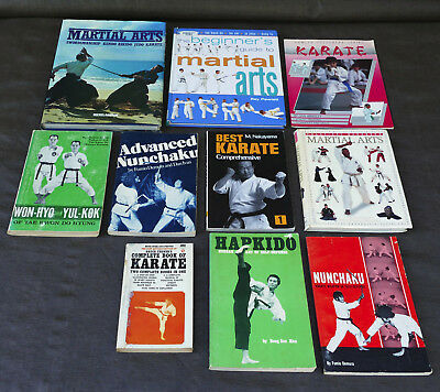 Bulk Lot Martial Arts Books Best Karate Advanced Nunchaku Hapkido Self Defence