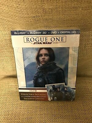 Rogue One A Star Wars Story- Target Exclusive 3D Blu-ray DVD Digital HD *NEW*