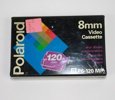 Polaroid 8 mm Video Cassette camcorder P6-120MP 2 to 4 hours Sealed Brand New