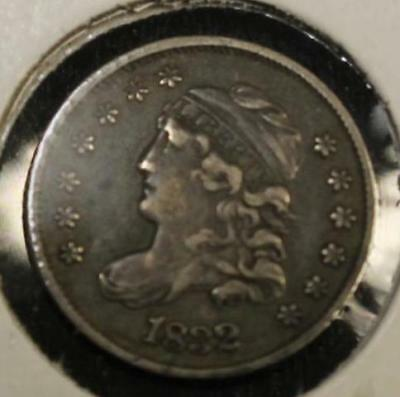 Raw 1832 Capped Bust H10C Uncertified Ungraded Silver Half Dime 90%
