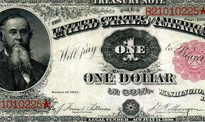 HGR FRIDAY 1891 $1 Treasury Note ((Stanton)) AWESOME GRADE