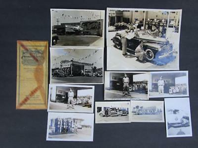 Vintage Signal Gas and Oil Advertising Photograph Life Insurance Policy Lot 11pc