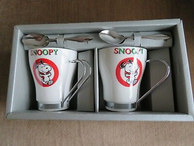 Snoopy/Peanuts Set of 2 Coffee Cups with Spoons