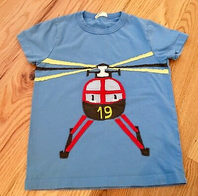 Mini Boden Boys Helicopter Shirt ~ EXCELLENT CONDITION ~ Size 5-6y ~ ADORABLE