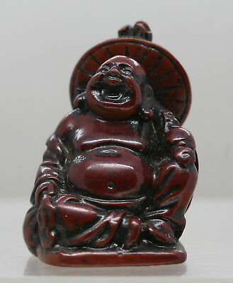 Nicely Made Vintage Chinese Happy Buddha Made Of Resin