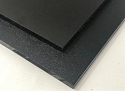 "Black HDPE Polyethylene Plastic Sheet 1/2"" - 0.500"" Thick One Side Smooth"