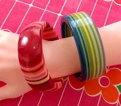 MISSONI FOR TARGET BANGLE DUO Chunky Plastic 60s style