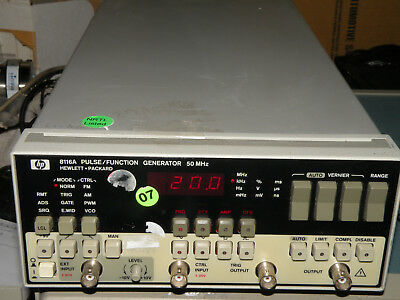 HP 8116A Pulse / Function Generator  50 MHz