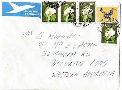 L2430law South Africa Stamps on cover to Australia