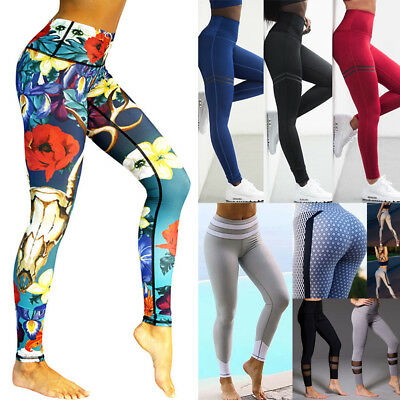 Women Sports Pants High Waist Yoga Fitness Leggings Running Stretch Trousers Lot