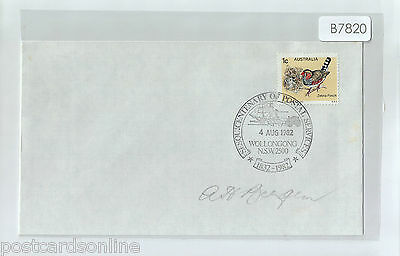 T7820cgt 1982 Australia Centenary of Postal Services Wollongong postmark cover