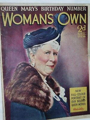 WOMANS OWN Magazine.....28th May 1938.....QUEEN MARY   on cover