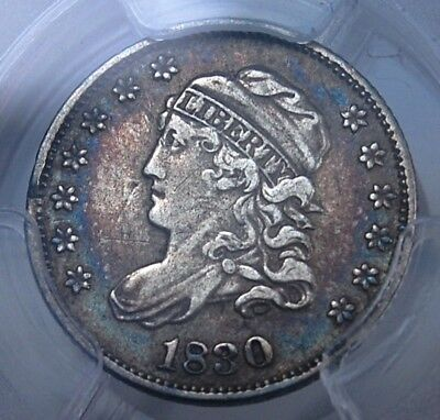 1830 Capped Bust Half Dime Pcgs Vf35 Excellent Soft Pastel Album Tone Attractive