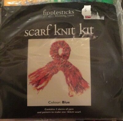 Fiddlesticks scarf knit kit
