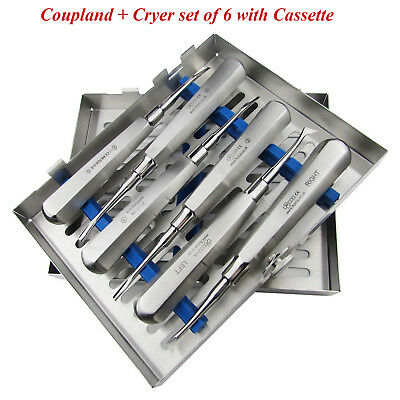 Tooth Extraction Root Elevators kit Luxation Cryer Coupland Surgical Instruments