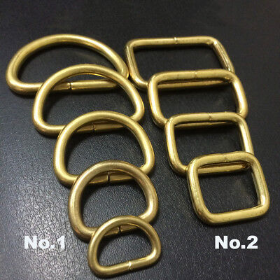 Solid Brass O D Square Webbing Ring Buckle Loop Strap Heavy Duty Leather Bag EDC