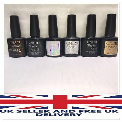 CND Shellac Nail Polish Choose Base Coat, DURAFORCE, ORIGINAL,Top Coat, XPRESS5