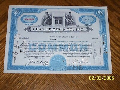 Lot of 10 Chas Pfizer & Co.Issued 1950's. 2 Types