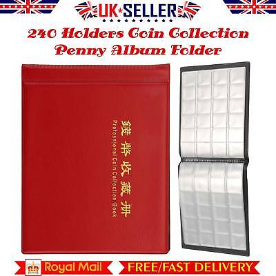 240 Album Coin Penny Money Storage Book Case Folder Holder Collection