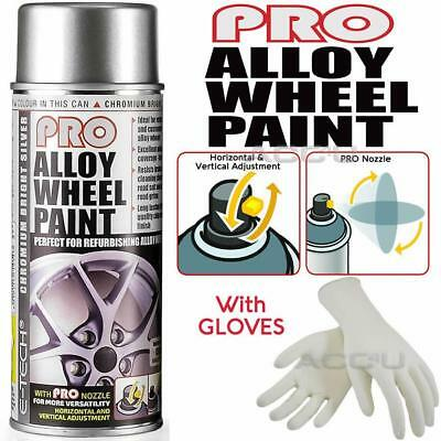 E-Tech PRO 701 Chromium Bright Silver Car Alloy Wheel Wheels Spray Paint Can+Glo