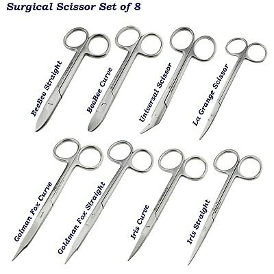 Surgical Scissors Crown Goldman Fox Dressing Cutting Iris Gum Scissors Nursing