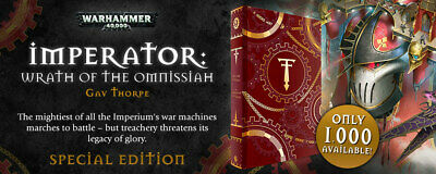 IMPERATOR: WRATH OF THE OMNISSIAH Gav Thorpe Signed Limited MINT Warhammer 40K