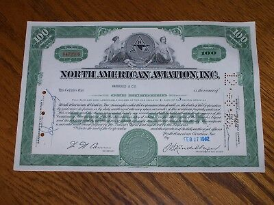 Lot of 5 North American Aviation, Inc. Stock Certificates