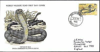FDC - Lesotho - 1979 World Wildlife Fund, Ringhals - First Day Cover