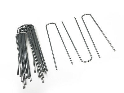 Pack Of 20 Galvanised Metal Ground U Tent Pegs Gazebo Camping Tarpaulin Hooks