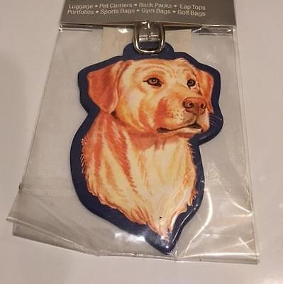 Yellow Labrador Luggage Tag-New In Package!!