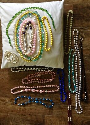 Large Lot of Vintage Costume Jewelry Necklaces WOW!
