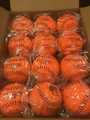 "Trump 12"" .44 375 Synthetic Softballs New Sealed 1 dozen"