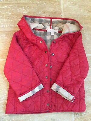 7360d990f58f BURBERRY TODDLER GIRLS 24M Pink Quilted Jacket W hood!!! -  59.99 ...