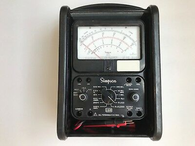 Vintage Simpson 260 Series 7 Volt-Ohm-Milliammeter Roll Top with Probes